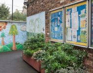 Mural at St Peter's School